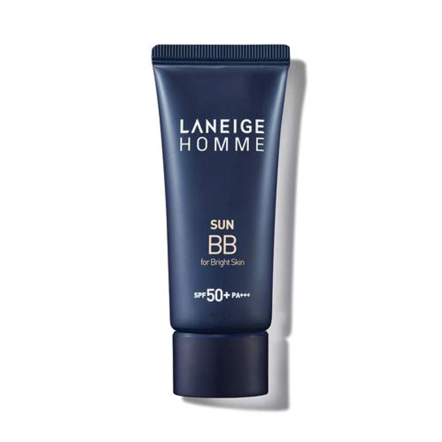 戦術後悔落とし穴LANEIGE HOMME Sun BBブライトスキン/ダークスキンSPF50 + PA +++用(男性用)韓国の人気男性BBクリーム紫外線遮断スキンケア老化防止ローションの代わりに使用可能な水分 (軽い肌にbright skin)