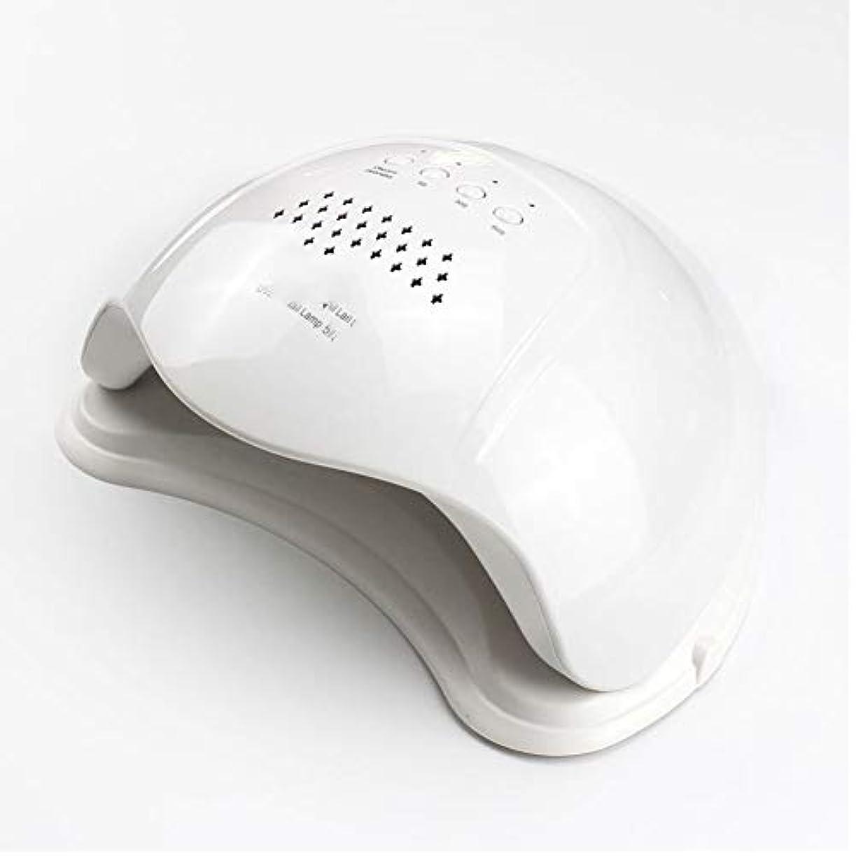 服を着るセットする冷蔵庫48ワットプロフェッショナルuv ledジェルネイルライトポリッシュ硬化ドライヤー軽量スマートオートセンシングで3タイマー設定5 s / 30 s / 60 s,White