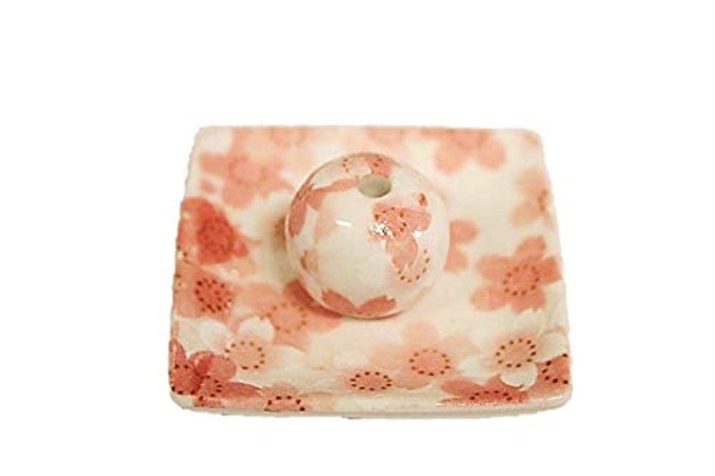 意識的コースコンピューターを使用する満開桜 小角皿 お香立て 陶器 ACSWEBSHOPオリジナル
