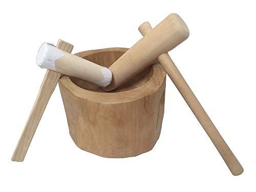北海道天然木製 ミニもちつきセット お子様用ミニキネ付 1升用