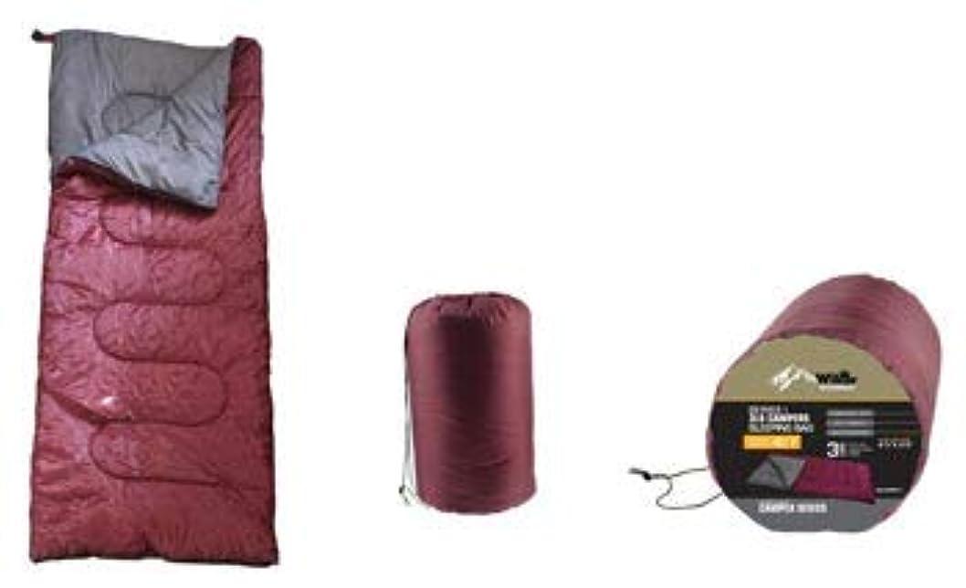 クライマックスクロニクル泳ぐRustic Axentzシリーズ キャンパー寝袋 スタッフサック マルーン ポリエステルシェル マイクロファイバー裏地 40度 3ポンド詰め物