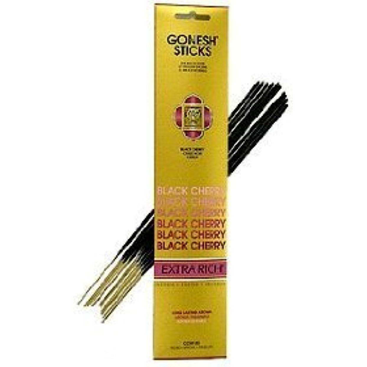 フレッシュ小包更新するGonesh ~ Incense Sticks ~ Pack of 4 ~ブラックチェリー