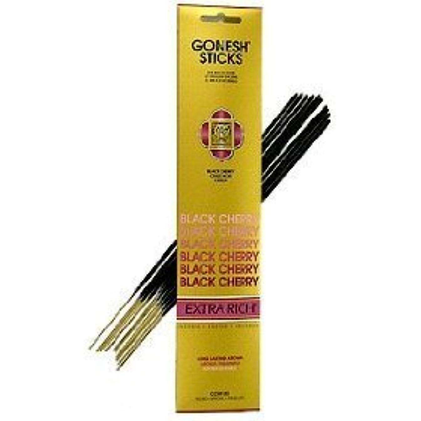 コーラスパウダー反対するGonesh ~ Incense Sticks ~ Pack of 4 ~ブラックチェリー