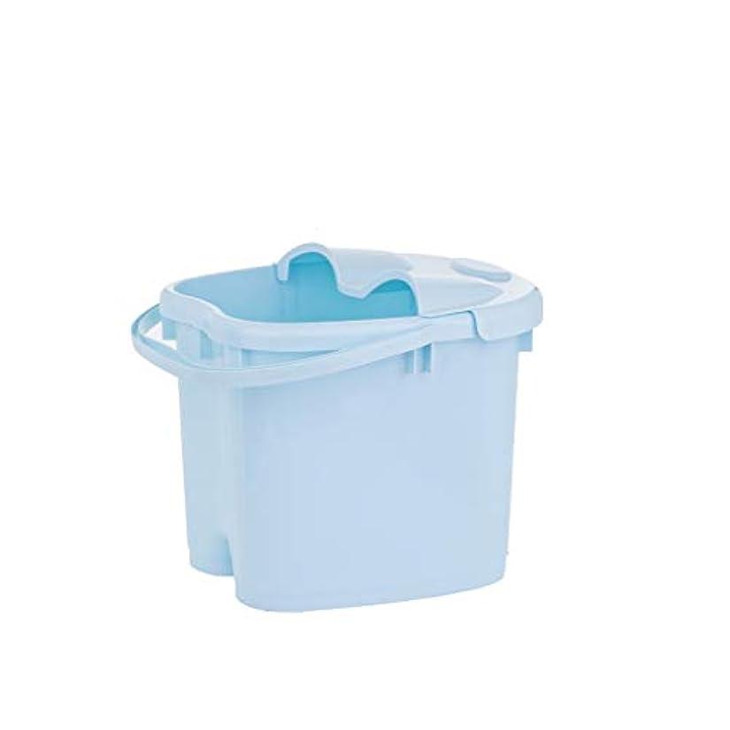 ハイキングに行くたらい観点BB- ?AMT携帯用高まりのマッサージの浴槽のふたの熱保存のフィートの洗面器の世帯が付いている大人のフットバスのバケツ 0405 (色 : 青, サイズ さいず : 30.5cm high)