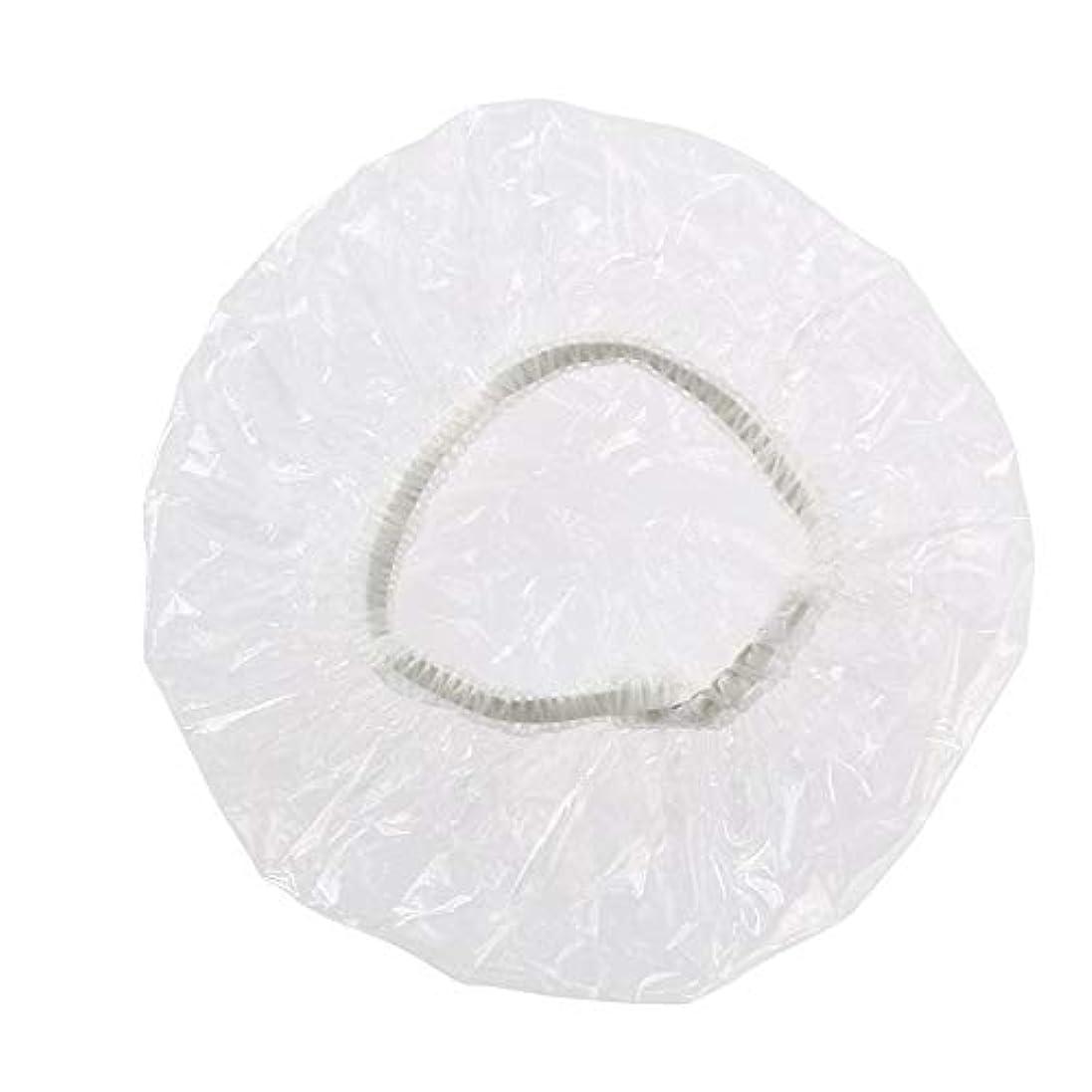 100個入りイヤーキャップ 使い捨て透明 ビニール 耳 保護 カバー 毛染め パーマ 縮毛矯正 シャンプー