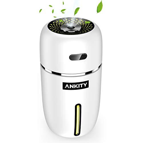 加湿器 卓上 アロマ 除菌 ペットボトル 超音波 usb アロマディフューザー ミニ加湿器 オフィス/部屋/車載 小型 空焚き防止 水漏れ防止 LEDライト搭載 乾燥/花粉症対策 (ホワイト)