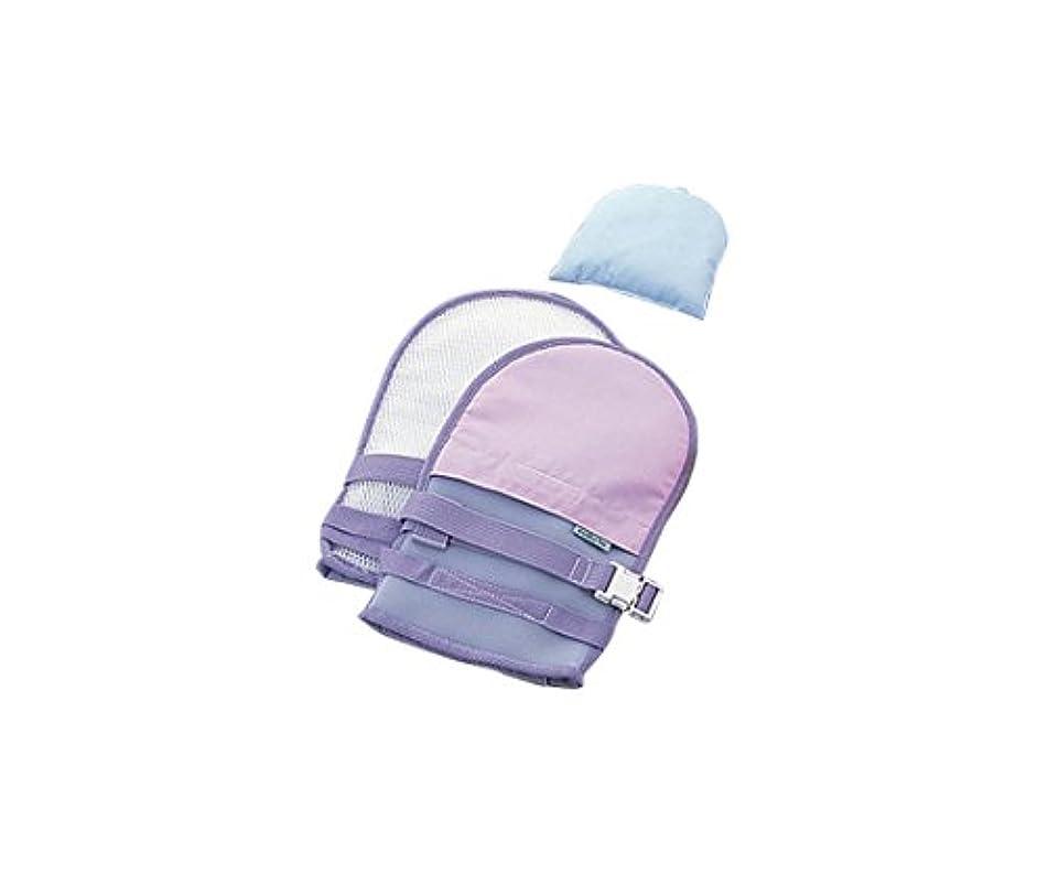 スズメバチ自伝調整可能ナビス(アズワン)0-1638-32抜管防止手袋中メッシュパープル