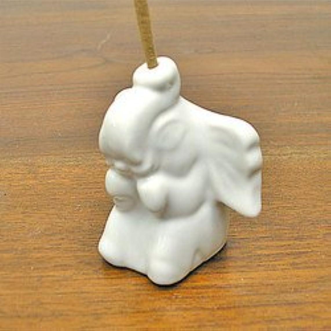 省略する興奮する魅惑する象さんのお香立て <白> インセンスホルダー/スティックタイプ用お香立て?お香たて アジアン雑貨