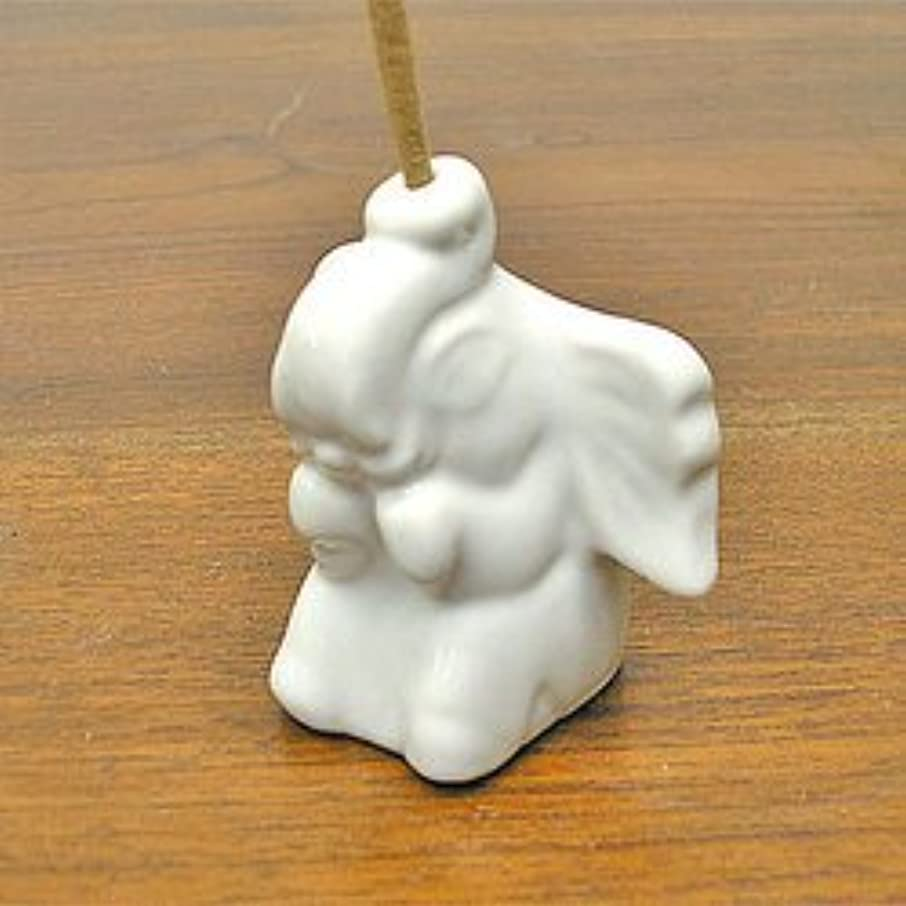 中でスキップ水素象さんのお香立て <白> インセンスホルダー/スティックタイプ用お香立て?お香たて アジアン雑貨