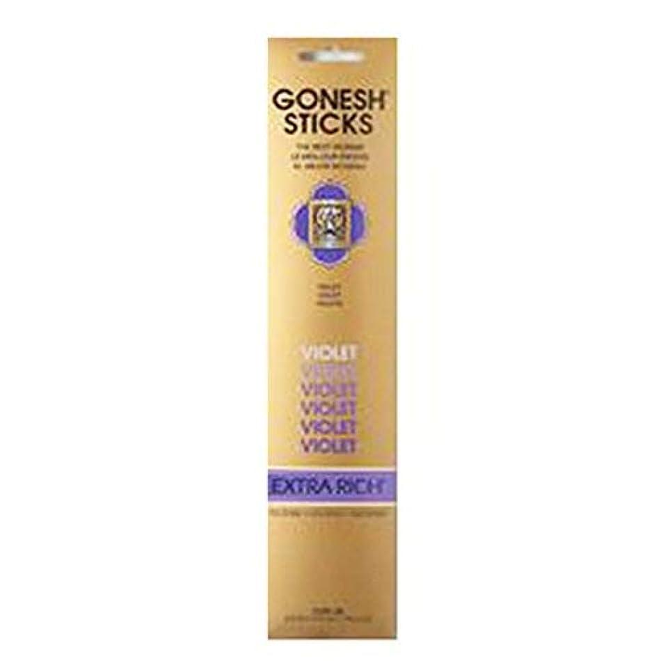 気配りのある湖鋸歯状Gonesh Incense Extra rich-バイオレット( 20 Sticks in 1パック) 2208329