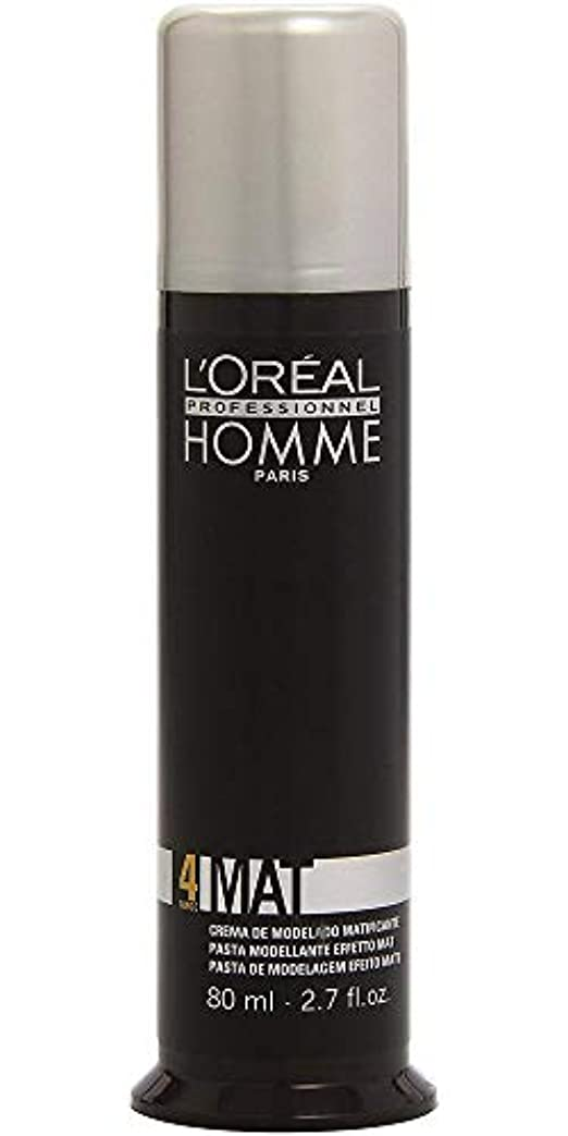 魅力タンク拮抗するロレアル プロフェッショナル 4 マットワックス 80g[ミディアムホールド] 整髪料