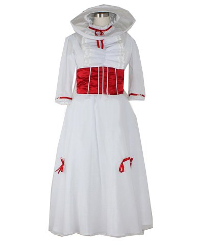 [ウェブエッセンス] コスプレ衣装 Mary Poppins メリー・ポピンズ風  コスプレ クリスマス、ハロウィン イベント仮装 コスチューム オリジナル ブレスレット 付き (女性Sサイズ)