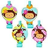 Pink Mod 'Monkey Love' Blowouts (8ct) [並行輸入品]