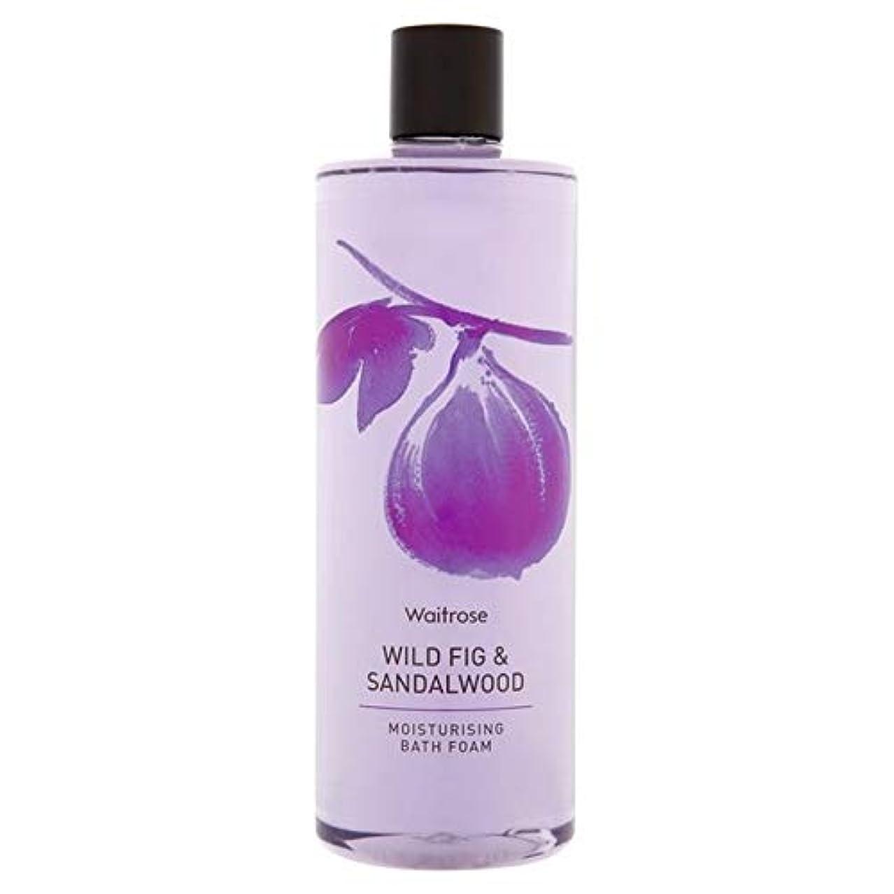 [Waitrose ] ウェイトローズのイチジクの葉&サンダルウッド泡風呂500ミリリットル - Waitrose Fig Leaf & Sandalwood Foam Bath 500ml [並行輸入品]