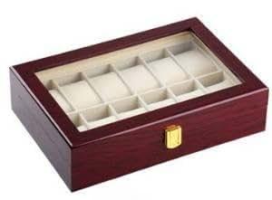 【ノーブランド品】木製 腕時計 ケース 12本用 収納 コレクション ボックス