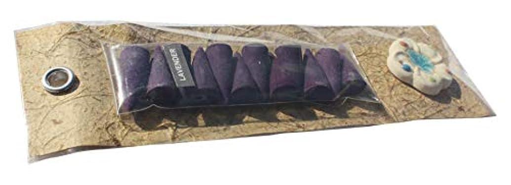 元のアルミニウム貯水池Full Funk 天然香り インセンスコーン ギフトパック 12個入り セラミックホルダー Pack of 12 cones パープル item971960AMZ