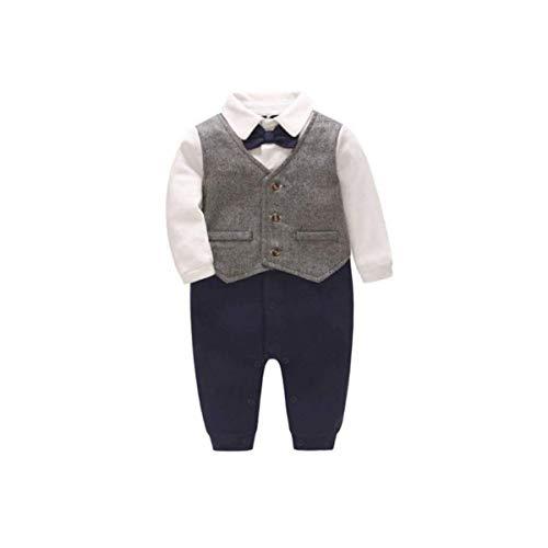 301ca87190874 Dulkiss(ドゥルキス) 子供 ロンパース フォーマル 男の子 ベビー スーツ シャツ パンツ 重ね着風