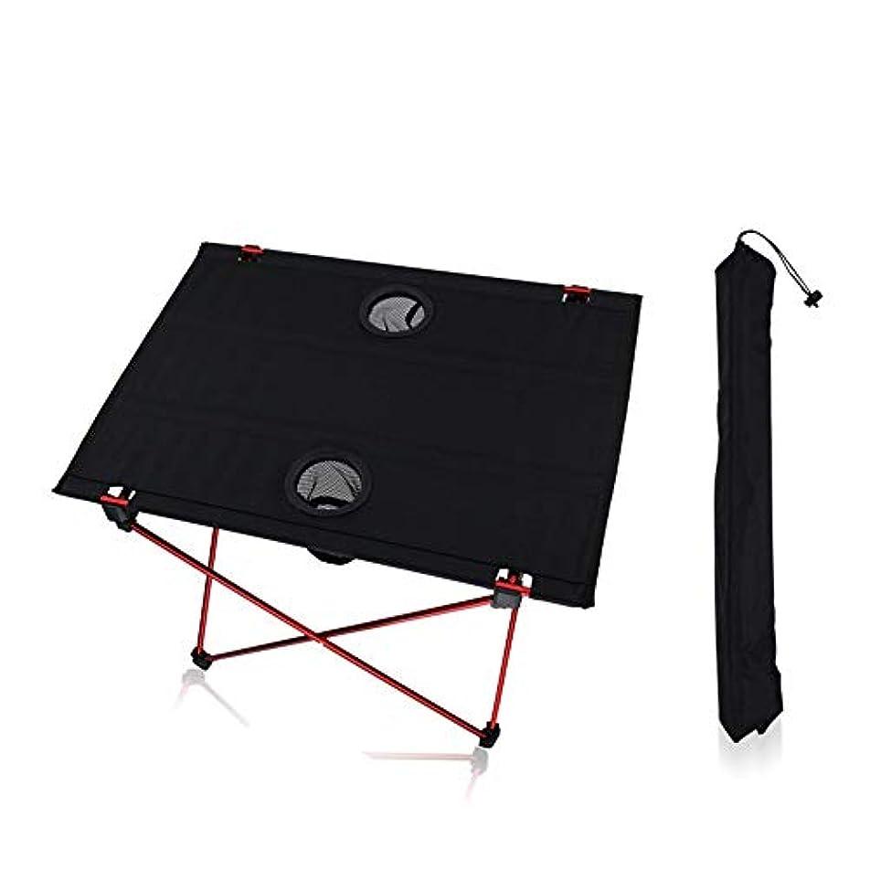 服を片付ける五一般的に重い義務生地折りたたみ式テーブル屋外バンケット試着パーティー アウトドア キャンプ用 (色 : ブラック, サイズ : 56*42*40cm)