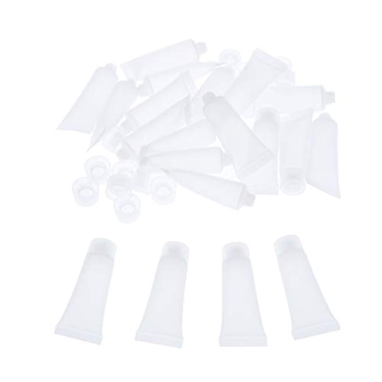 マンモス流ゲートウェイ化粧品チューブ 化粧瓶 空ボルト 広い口 クリーム チューブ 詰め替え 化粧品ボトル 約20個入り 全4サイズ - 15ml