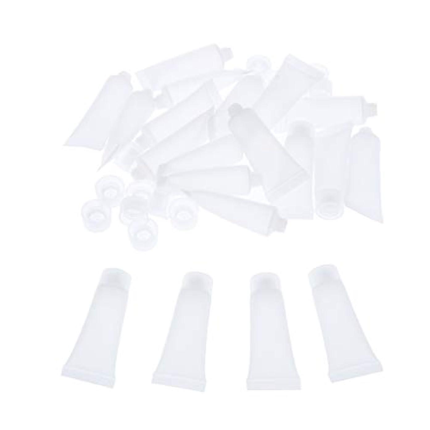 彼らのものインポートパドル化粧品チューブ 化粧瓶 空ボルト 広い口 クリーム チューブ 詰め替え 化粧品ボトル 約20個入り 全4サイズ - 15ml