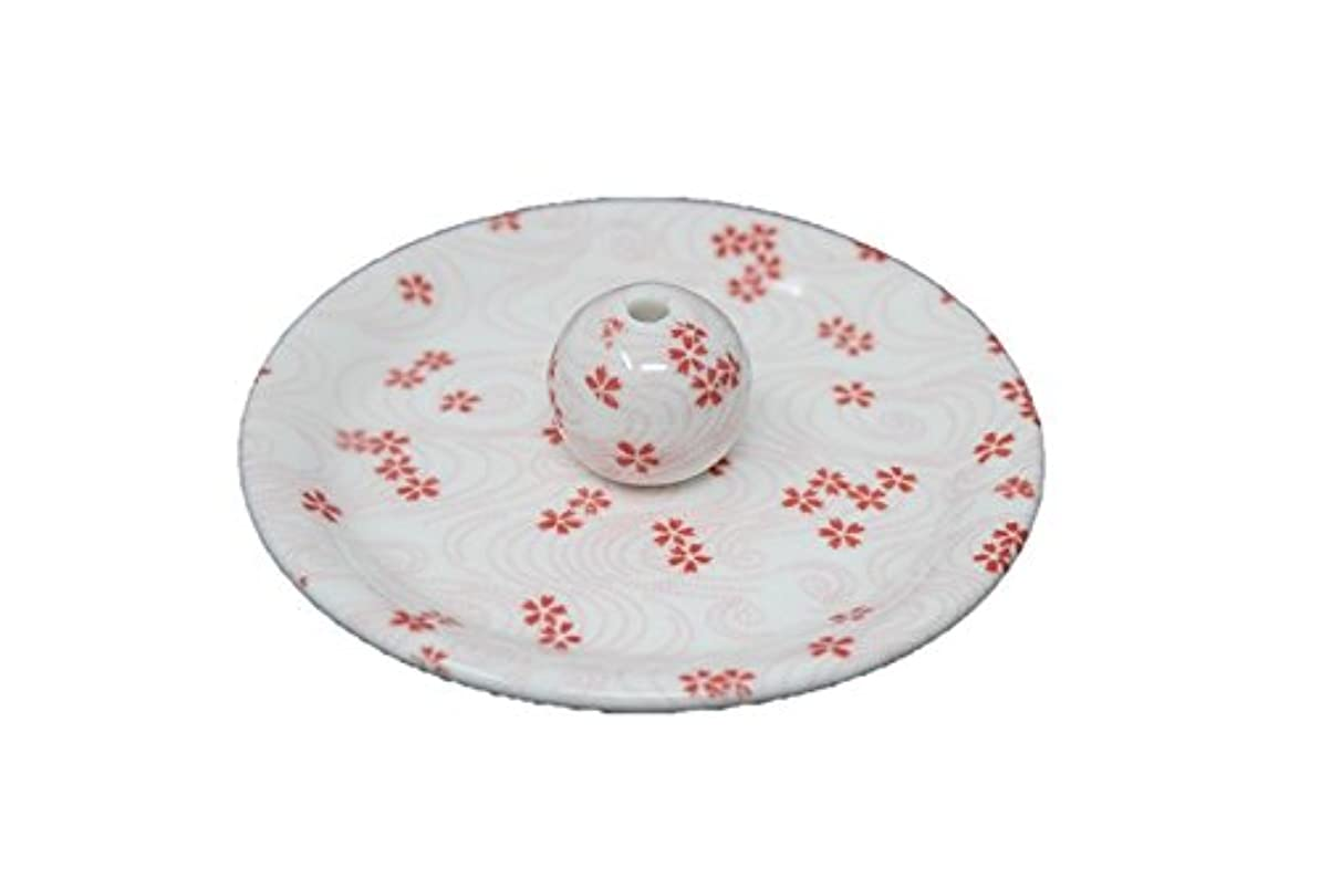 鳴り響く変換する束ねる9-34 桜渦 9cm香皿 お香立て お香たて 陶器 日本製 製造?直売品