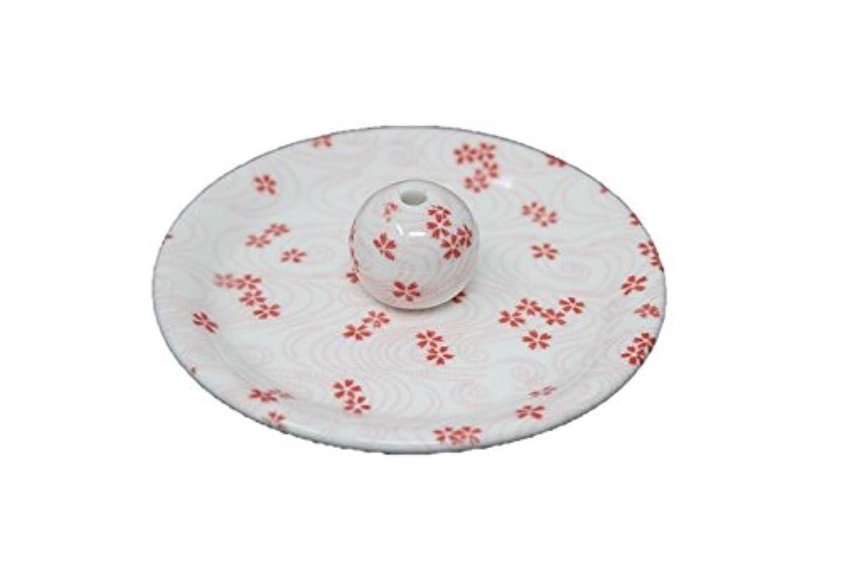 ヒゲ衝突うるさい9-34 桜渦 9cm香皿 お香立て お香たて 陶器 日本製 製造?直売品