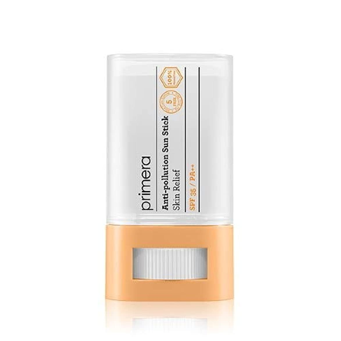 検閲鉱夫荒涼としたPRIMERA プリメラ Skin Relief Anti-pollution Sun Stick サンスティック 16g, SPF35 PA++ 韓国日焼け止め