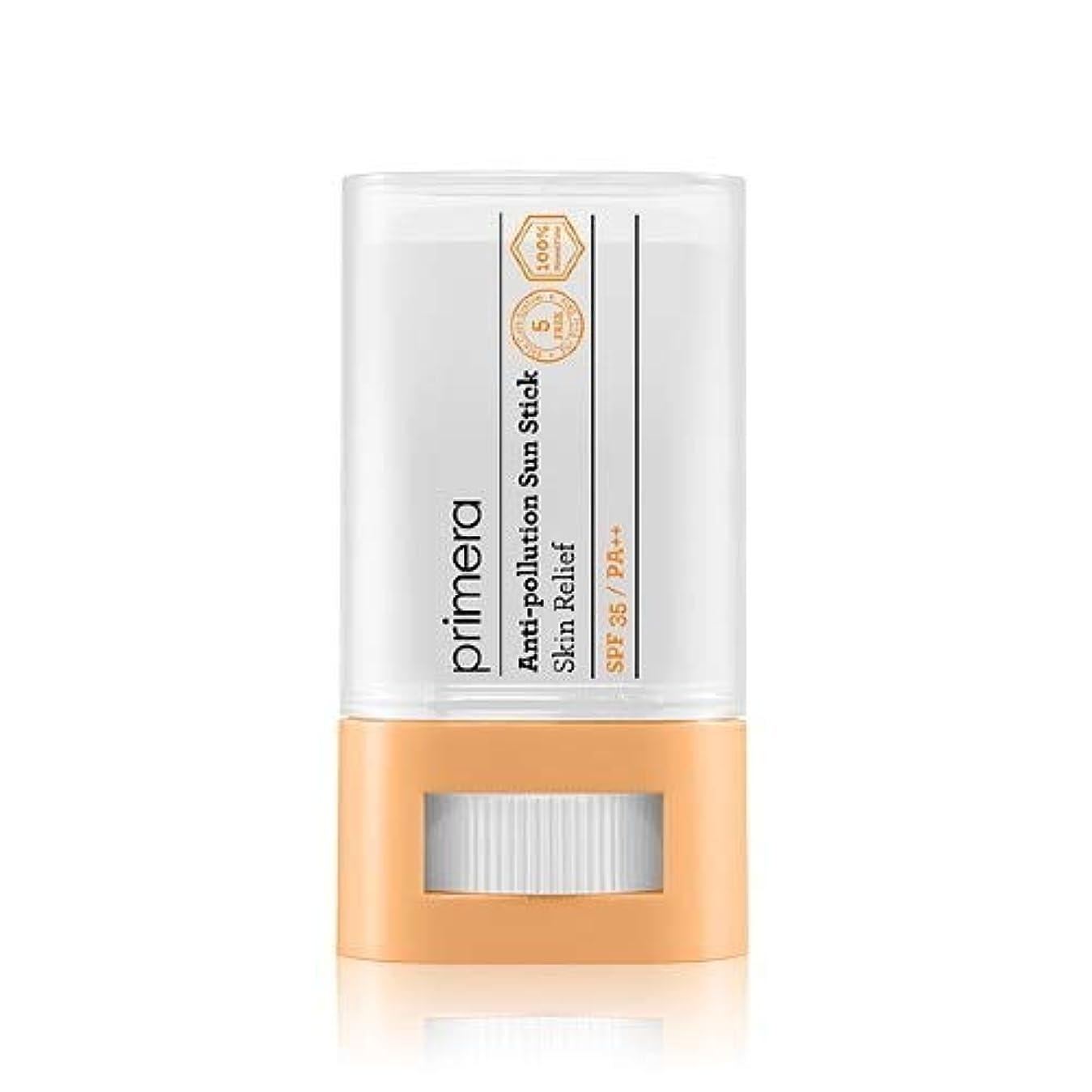 フェードアウトナインへ走るPRIMERA プリメラ Skin Relief Anti-pollution Sun Stick サンスティック 16g, SPF35 PA++ 韓国日焼け止め