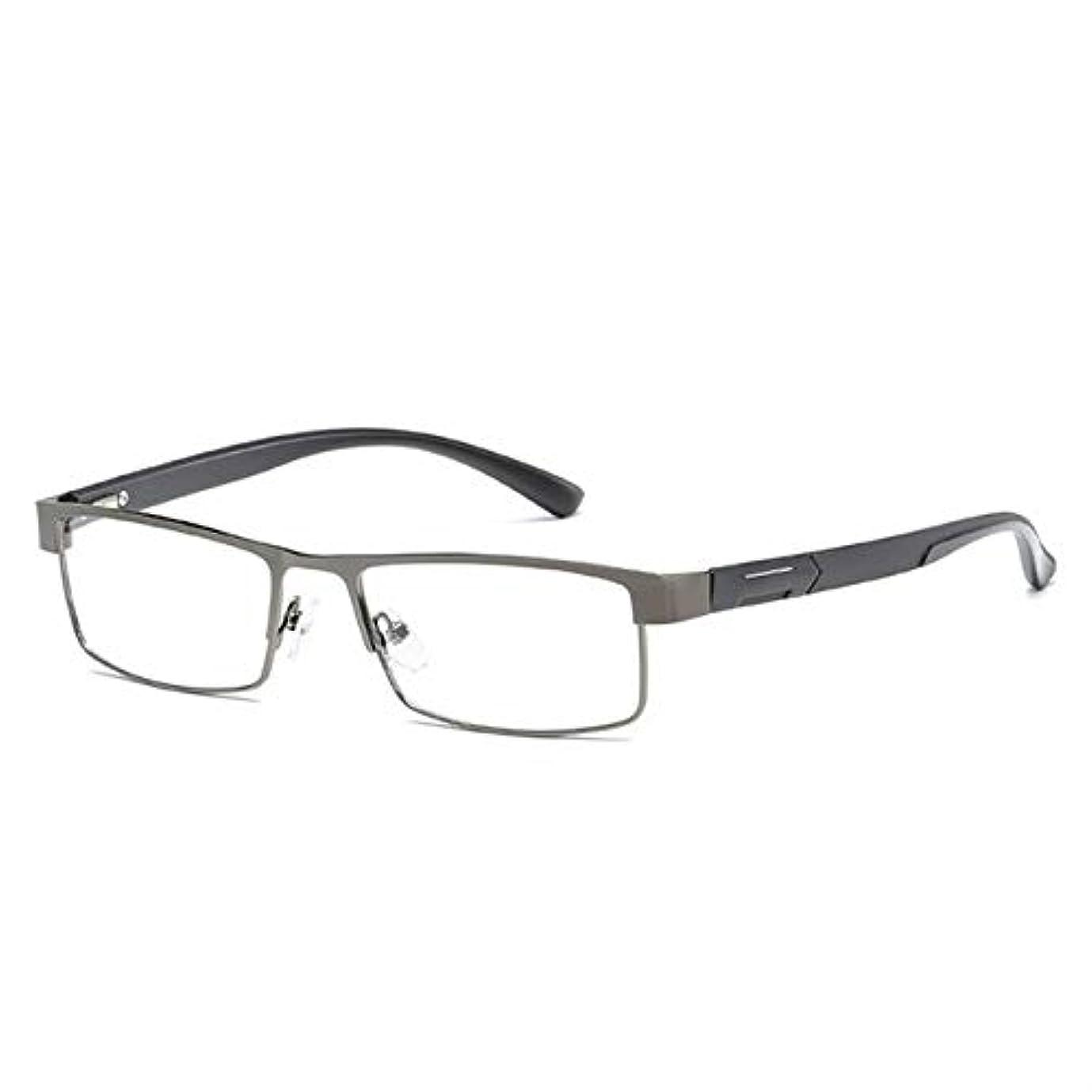 進化するハミングバード一般化するMENGJIA Simple Matelフレーム老眼鏡遠視眼鏡+ 2.00D(マットブラック)YANG (色 : Gun-color)