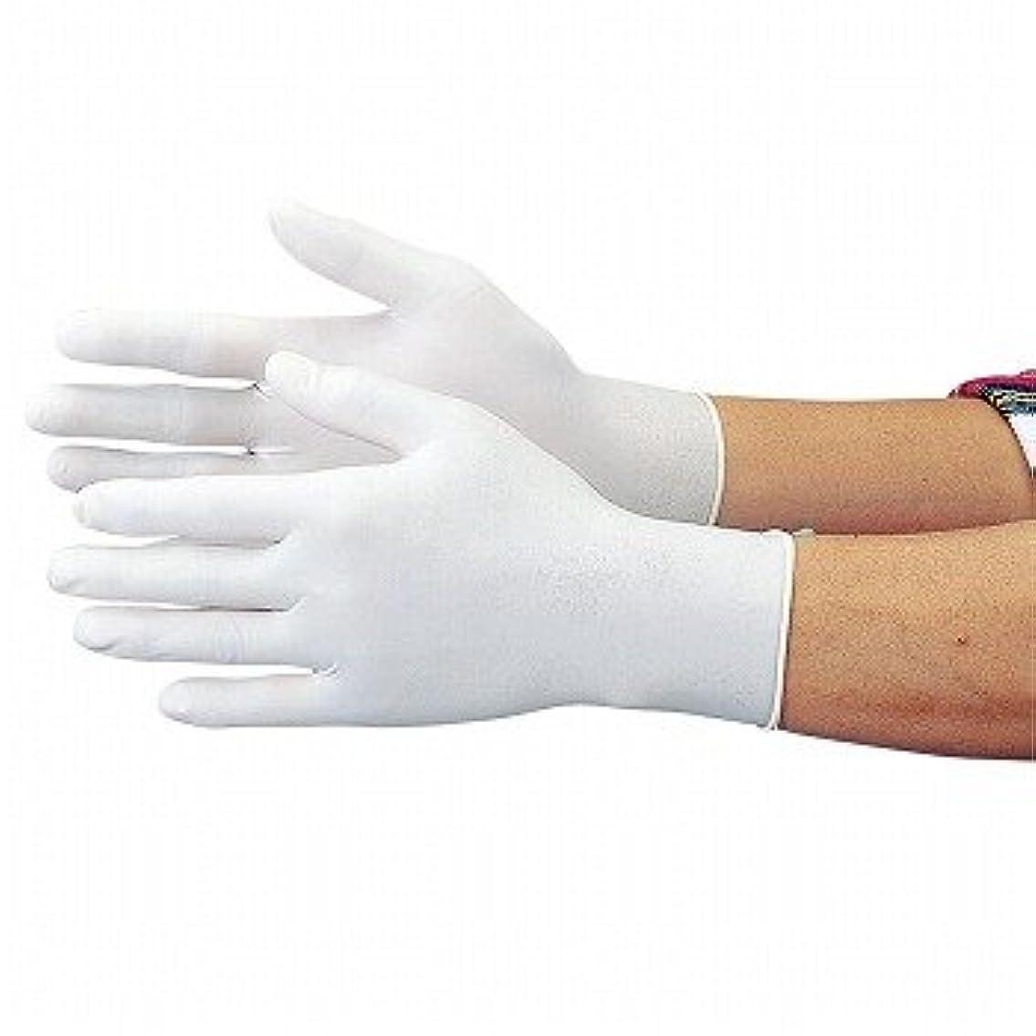 縞模様の気づく生おたふく手袋/使い捨て ゴム極ウス手袋 [100枚入]/品番:343 サイズ:M