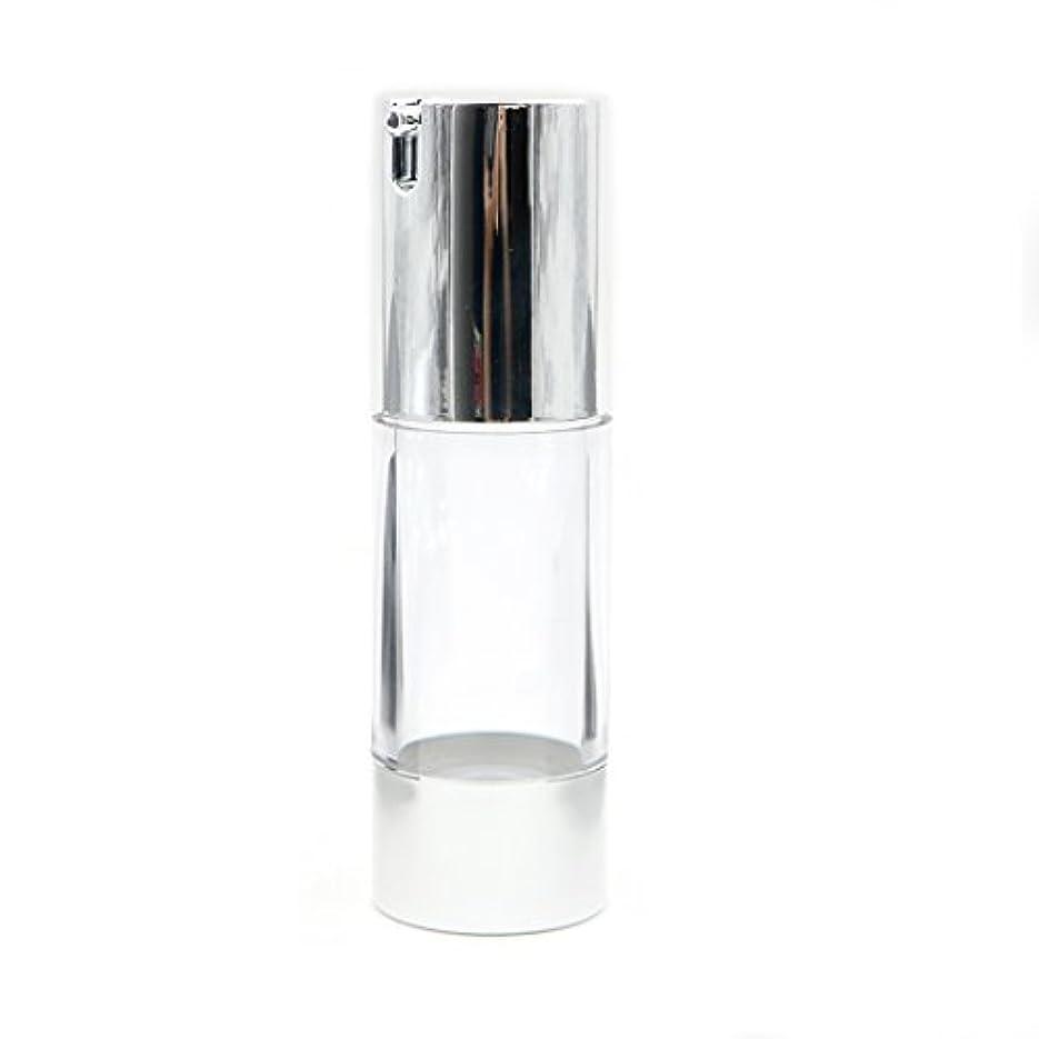 勇気段階魅力Angelakerry エアレス 容器 ホワイト 30ml 手作りコスメ 手作り化粧品 詰め替え容器 20本セット [並行輸入品]