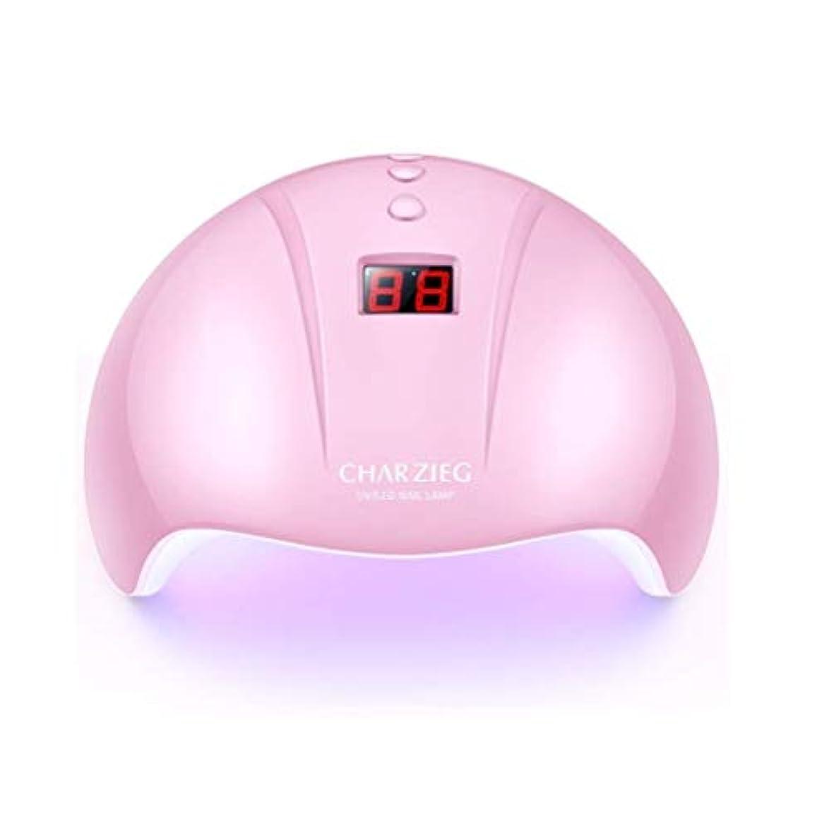 科学定期的にマイルHooAMI ネイルライト led ネイルドライヤー 硬化用uvライト ジェルネイル 36W LED 硬化 UVライト 高速硬化ジェルネイルライト赤外線検知 手&足両用 自動センサー 3段階タイマー付きUSB式 (ピンク2)