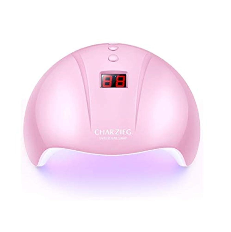 スライム主張ヒールHooAMI ネイルライト led ネイルドライヤー 硬化用uvライト ジェルネイル 36W LED 硬化 UVライト 高速硬化ジェルネイルライト赤外線検知 手&足両用 自動センサー 3段階タイマー付きUSB式 (ピンク2)