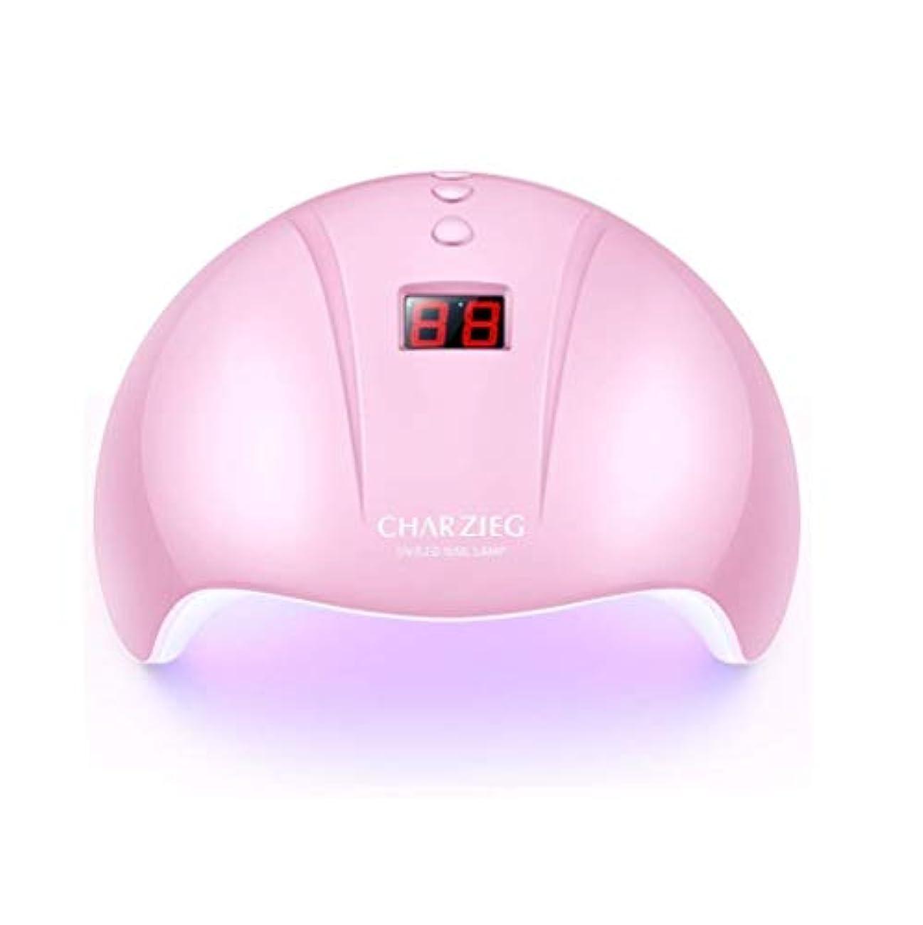 紫のかみそり感謝HooAMI ネイルライト led ネイルドライヤー 硬化用uvライト ジェルネイル 36W LED 硬化 UVライト 高速硬化ジェルネイルライト赤外線検知 手&足両用 自動センサー 3段階タイマー付きUSB式 (ピンク2)
