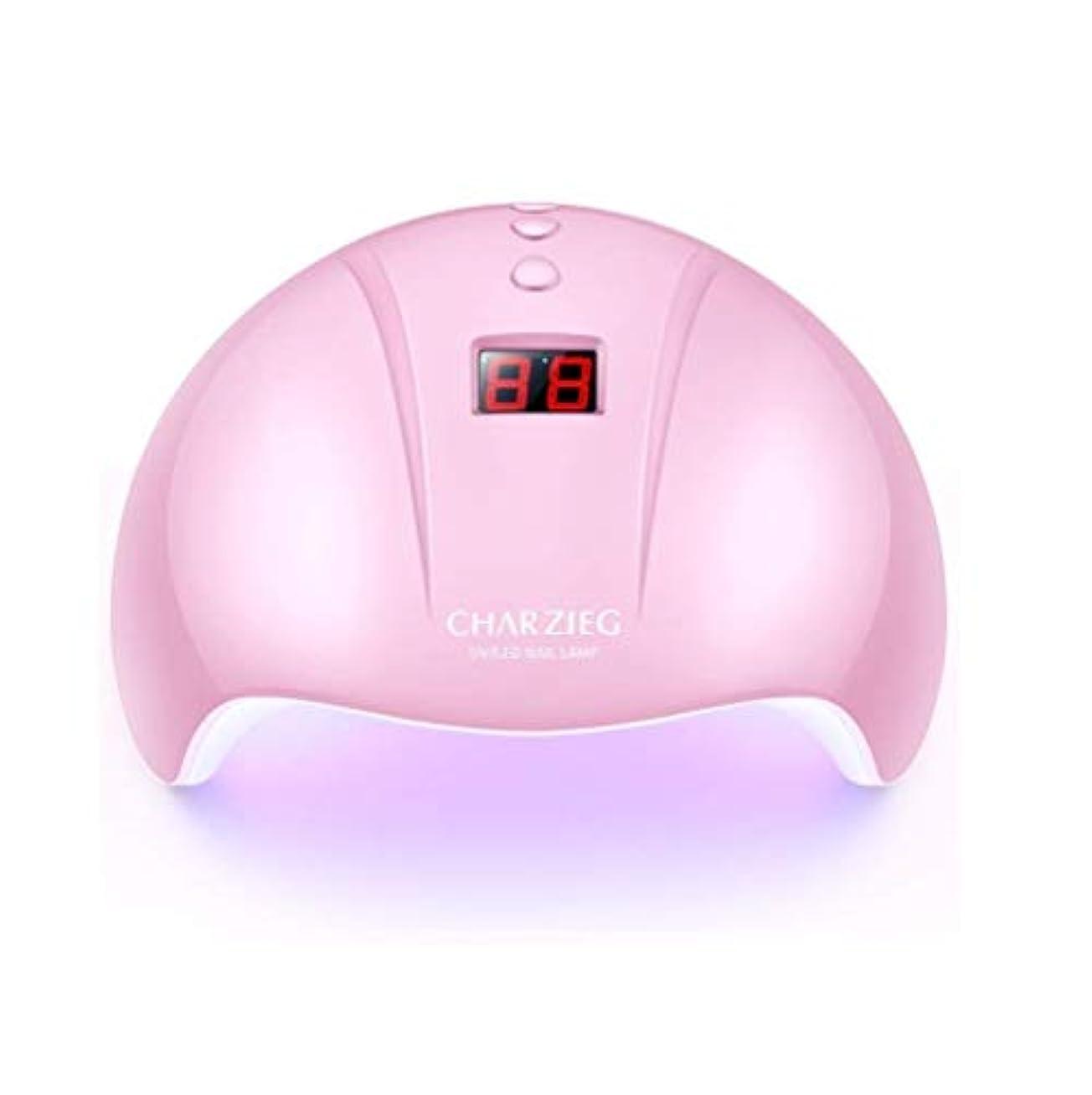 苦い家庭ニュースHooAMI ネイルライト led ネイルドライヤー 硬化用uvライト ジェルネイル 36W LED 硬化 UVライト 高速硬化ジェルネイルライト赤外線検知 手&足両用 自動センサー 3段階タイマー付きUSB式 (ピンク2)