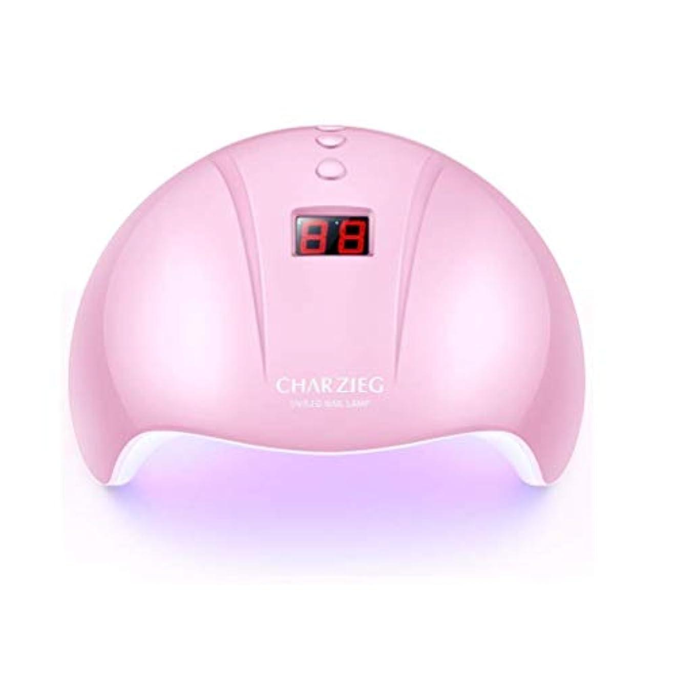 ディスコカラス排除するHooAMI ネイルライト led ネイルドライヤー 硬化用uvライト ジェルネイル 36W LED 硬化 UVライト 高速硬化ジェルネイルライト赤外線検知 手&足両用 自動センサー 3段階タイマー付きUSB式 (ピンク2)