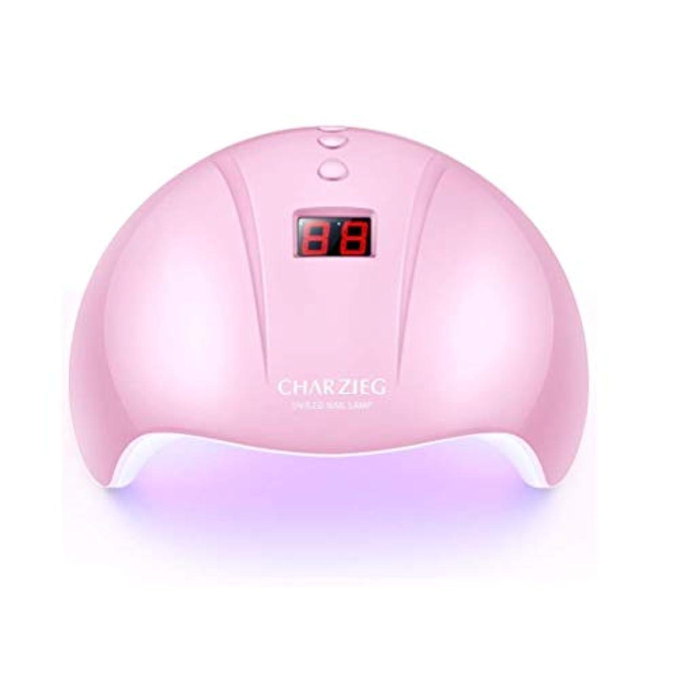 パートナー換気ワームHooAMI ネイルライト led ネイルドライヤー 硬化用uvライト ジェルネイル 36W LED 硬化 UVライト 高速硬化ジェルネイルライト赤外線検知 手&足両用 自動センサー 3段階タイマー付きUSB式 (ピンク2)