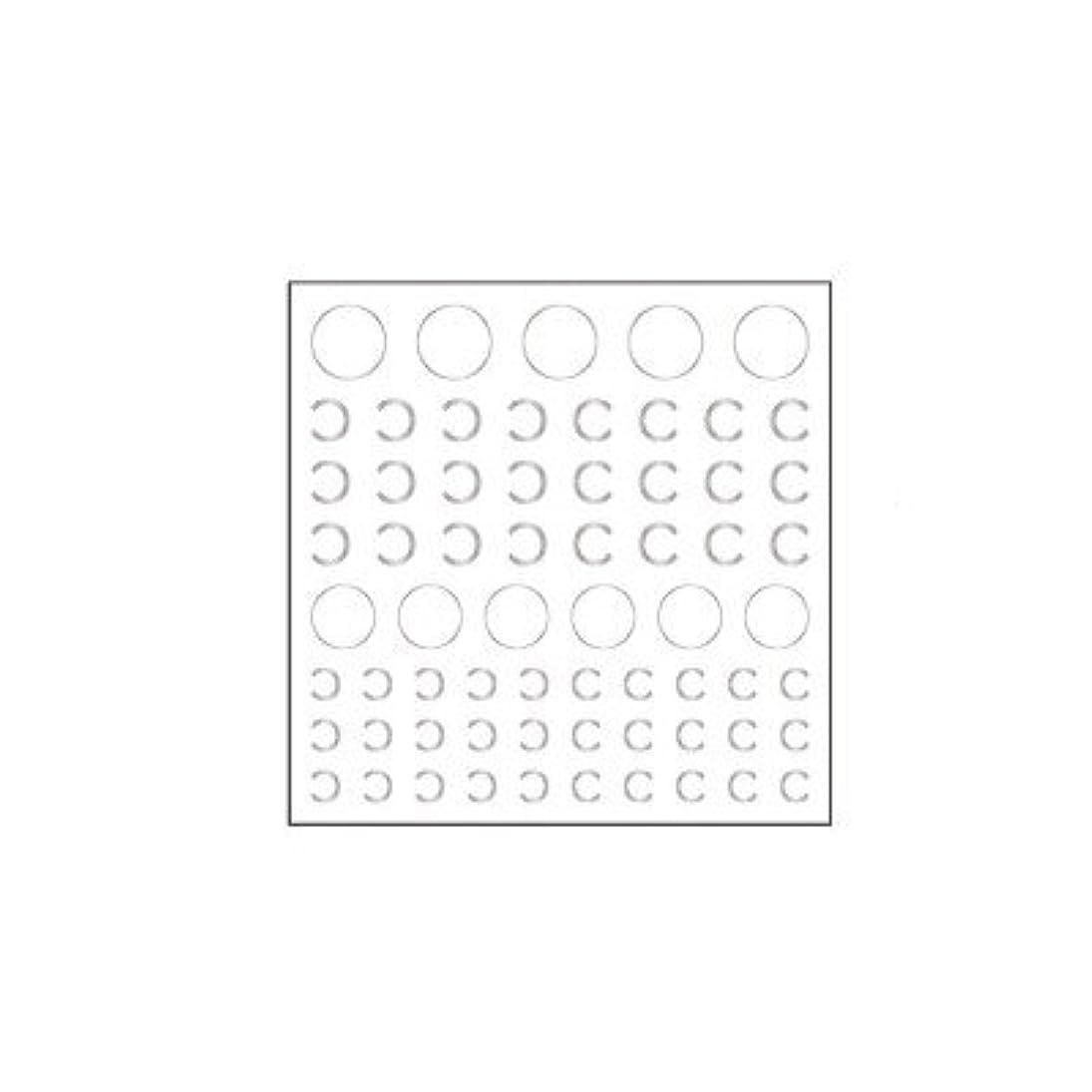 ヘッドレス機構かもしれないネイルシール カットシール ピアドラ pieadra ネイルシール ロゴタイプ C シルバー