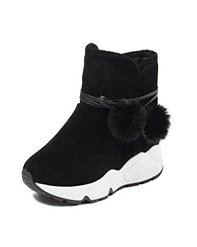 ショートブーツブーツ 女らしい 可愛い 厚底靴 暖かい 美脚 滑り止め 厚くし 保温 防寒 女の子 ...