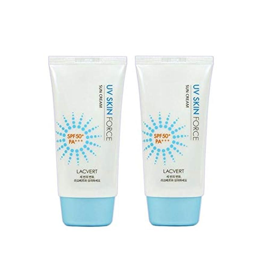 ミリメートル離れてブルームラクベルUVスキンフォースサンクリーム70mlx2本セット韓国コスメ、Lacvert UV Skin Force Sun Cream 70ml x 2ea Set Korean Cosmetics [並行輸入品]