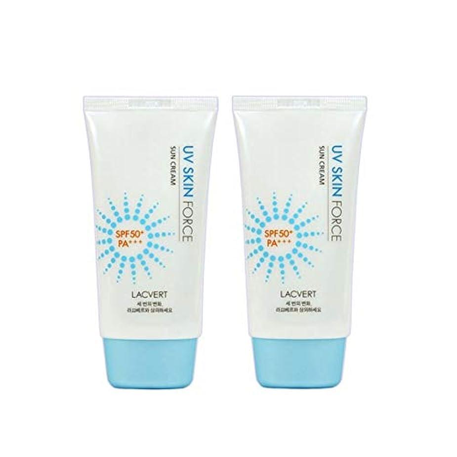 光電社会主義練るラクベルUVスキンフォースサンクリーム70mlx2本セット韓国コスメ、Lacvert UV Skin Force Sun Cream 70ml x 2ea Set Korean Cosmetics [並行輸入品]
