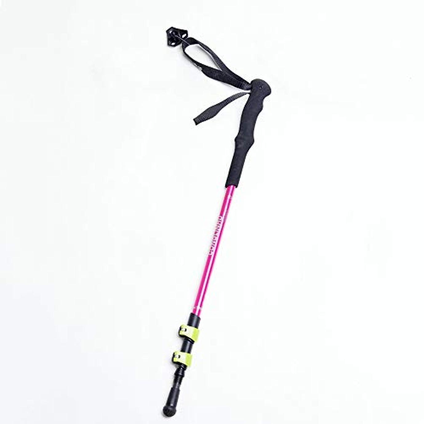 馬力大学院きらめきノルディックウォーキングポール、折りたたみ式伸縮自在アルミ合金滑り止めウェアラブル杖、キャンプ用、ハイキング用、登山用に適したダンピングデザイン