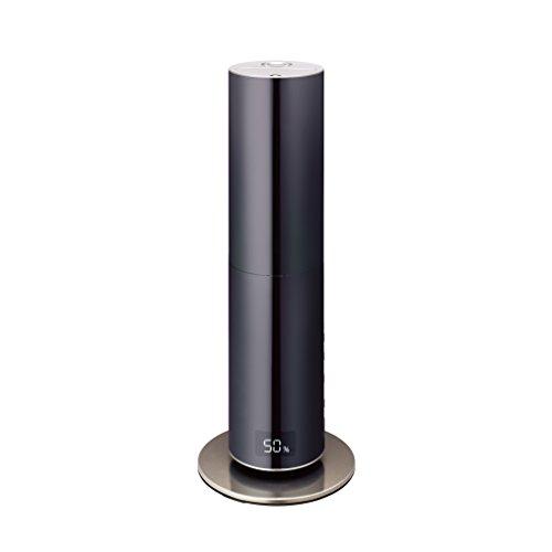 RoomClip商品情報 - ムード 加湿器 ハイブリッド式 ミラー クレベリンLED搭載 ブラック KMHR-701C BK
