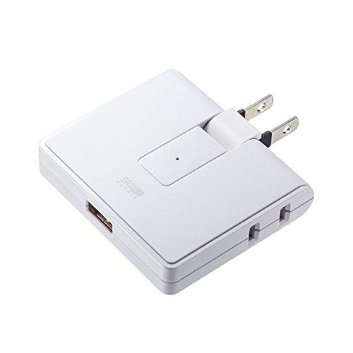 サンワサプライ USB充電ポート付きモバイルタップ 2P・2個口 TAP-B104U