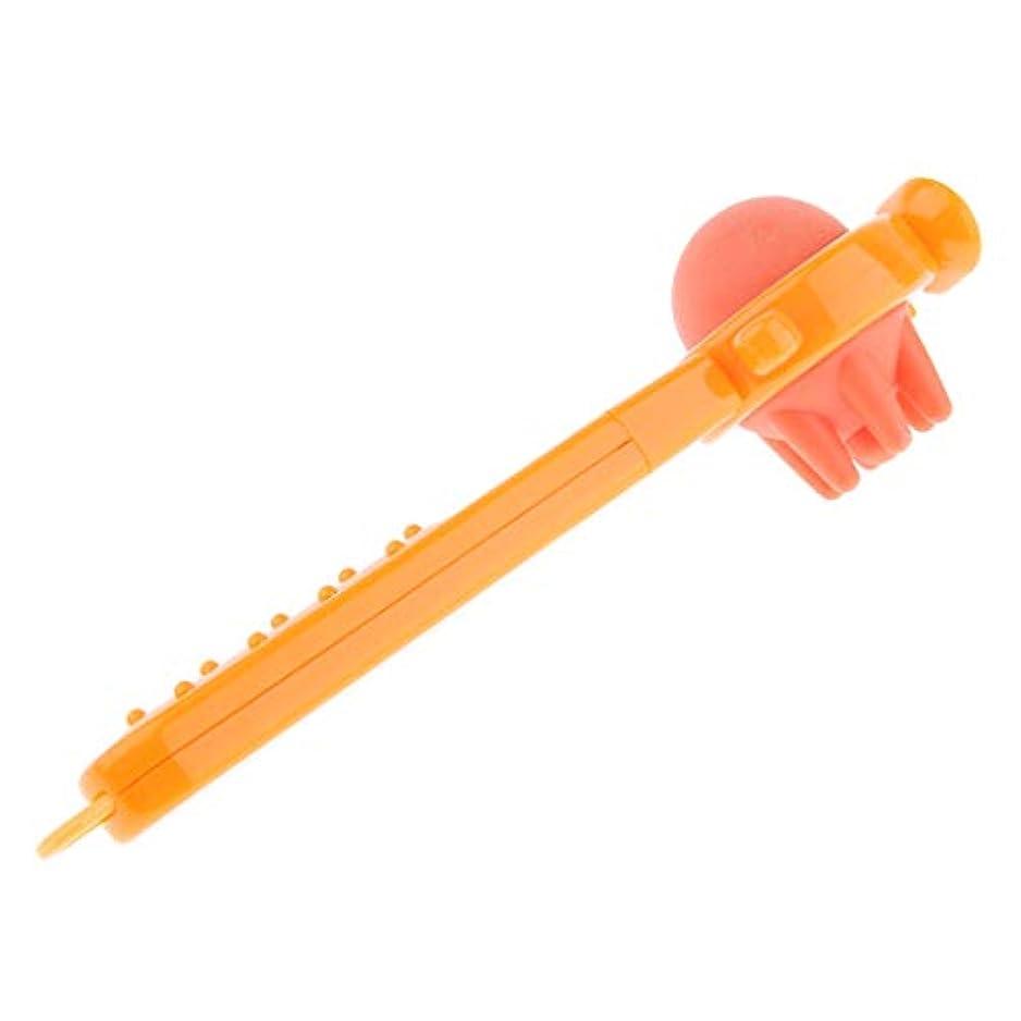 流産有力者馬鹿げたFLAMEER 背中/肩/脚/腕/筋肉 大人気 ツボ押しグッズ マッサージ ハンマー スティック 健康器具 オレンジ