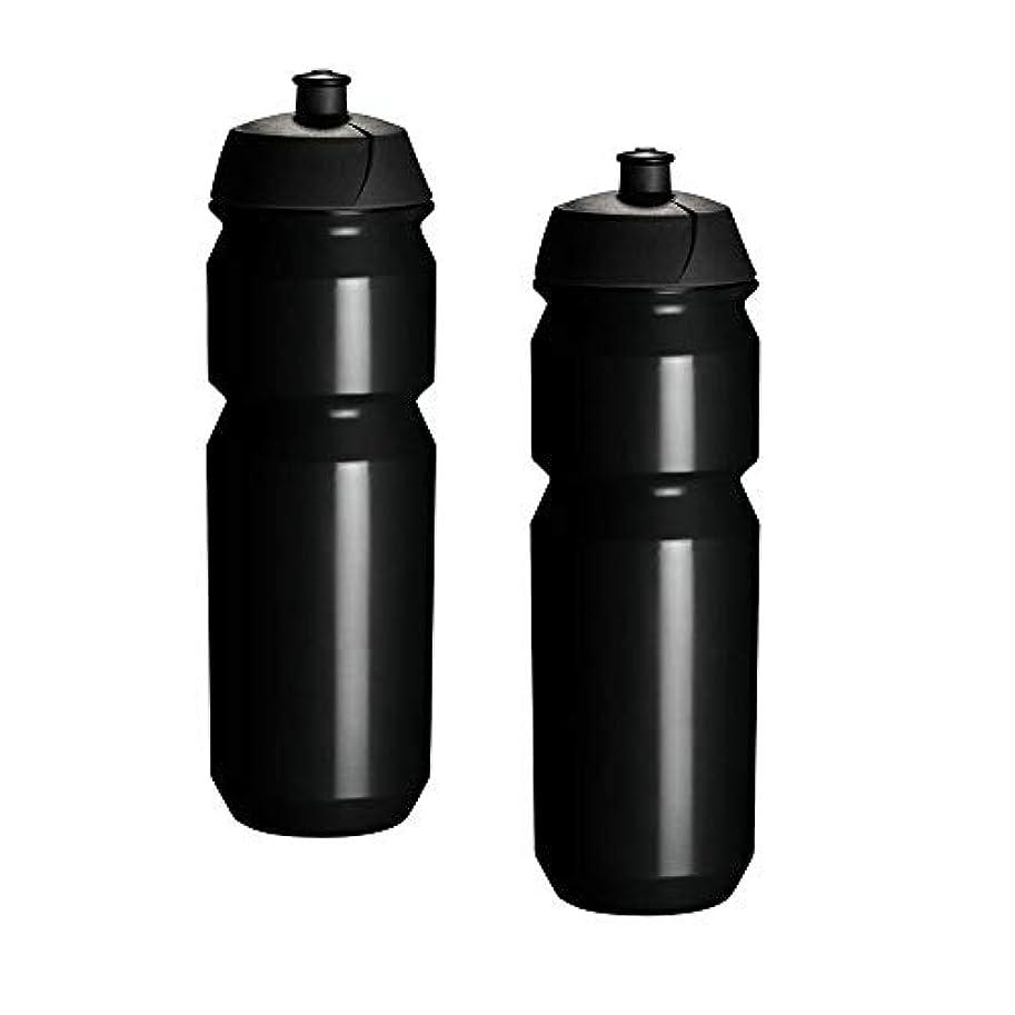 複合ふりをする決めますTacx Shiva サイクリングウォーターボトル 750ml プレーンブラック 2個パック