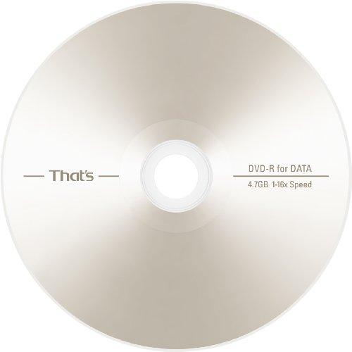 太陽誘電製 That's DVD-Rデータ用 16倍速4.7GB ノンプリンタブル マットシルバー 手書き専用レーベル スピンドルケース50枚入 DR-47STY50BN