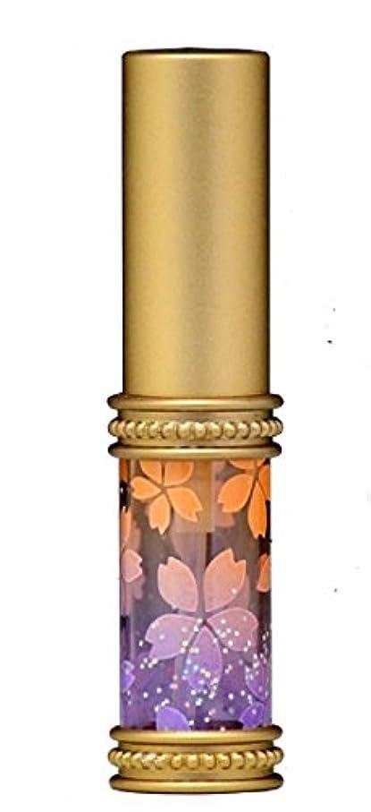 気を散らす感覚水を飲むヒロセアトマイザー メタルラメさくらアトマイザー 16178 OR/PU(メタルラメさくら オレンジ/パープル) 真鍮玉レット飾り付