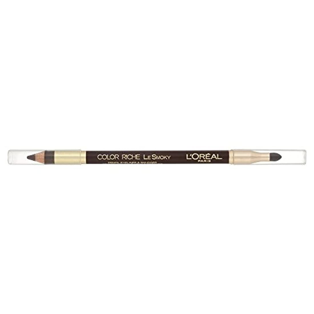 静かに種申し立てられたLoreal Color Riche Le Smoky Eyeliner Brown Fusion 204