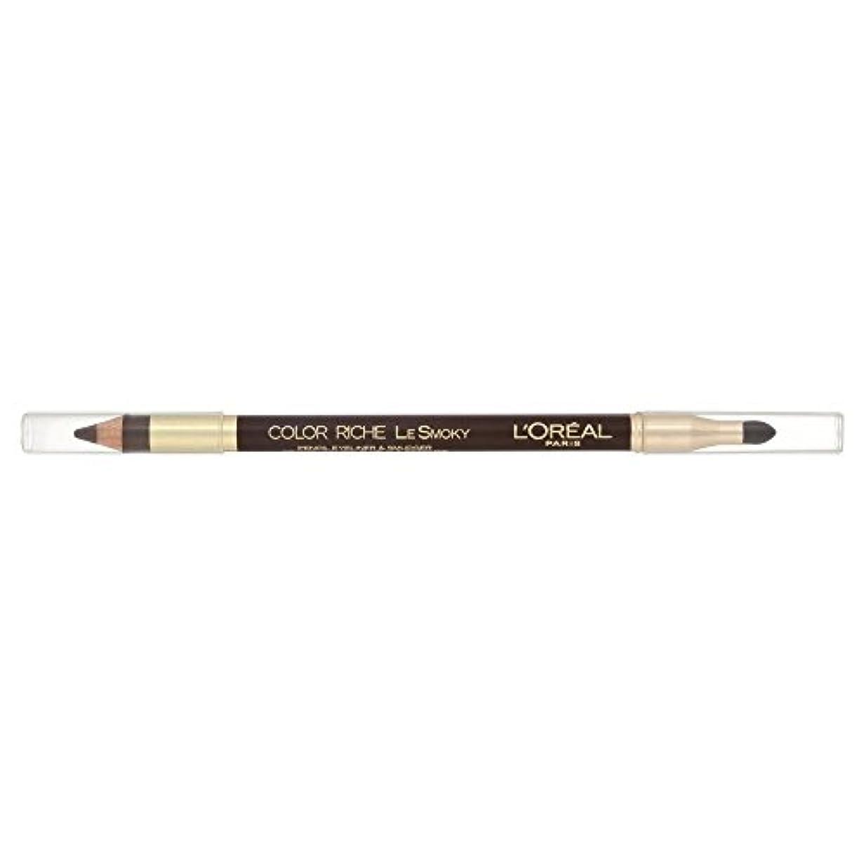 疲れたペニー第二にLoreal Color Riche Le Smoky Eyeliner Brown Fusion 204